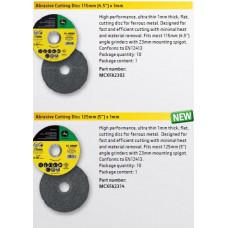 """Диск обрізний 115mm (4.5"""") x 1mm MCXFA2302, Диск обрізний 125mm (5"""") x 1mm MCXFA2314"""